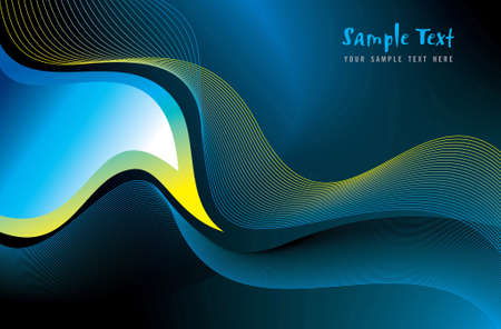 blue background  vector illustration, light effect graphic dimension