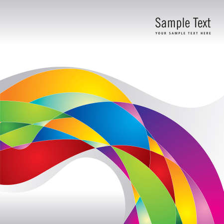 color swatch book: abstract colorful stripe shape background - Illustration