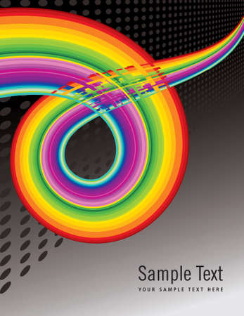 abstract colorful stripe shape background - Illustration Vector