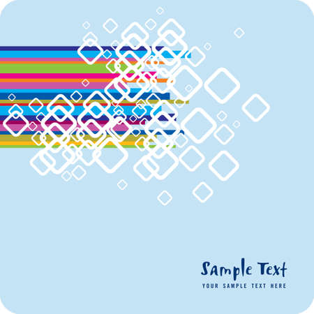 vector sample: Colorful background with sample text vector illustration