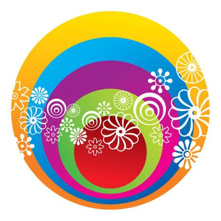 Abstract Circular Logo Design Element - Illustration Vector