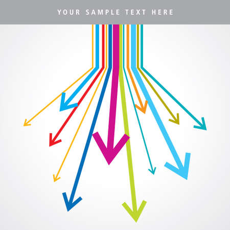Rainbow arrows - Illustration Vector