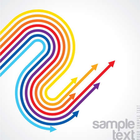 Rainbow arrows - Illustration