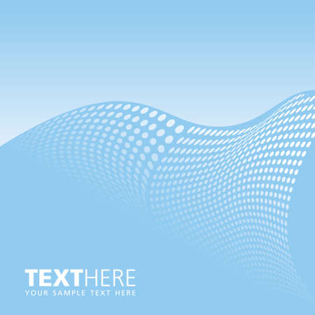 vector sample: Blue  vector background with text sample