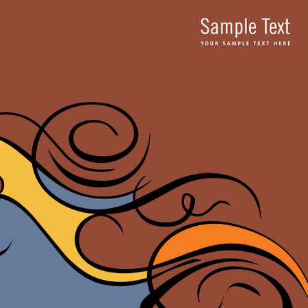 color swatch book: Ornamental abstract background for design greeting cards - Illustration Illustration