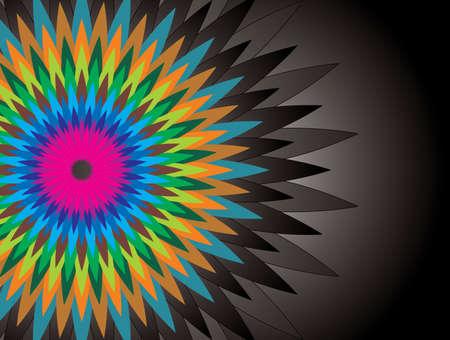 abstract colorful shape background - Illustration Ilustração