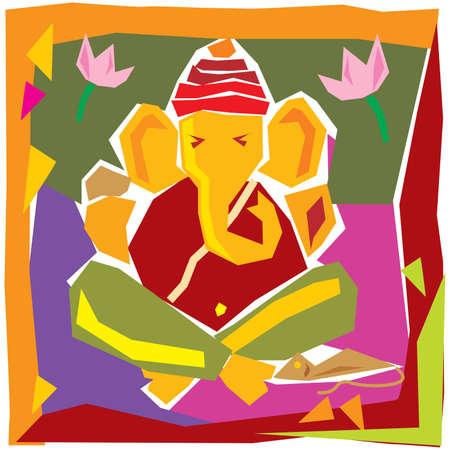 Lord Of Wisdom, Ganesha Festival Design Vector