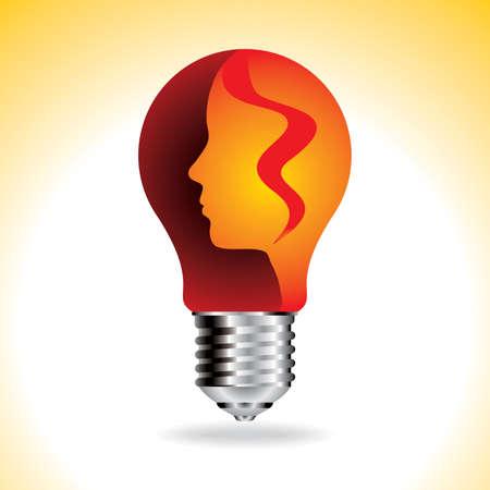new idea: thinking a new idea - Illustration