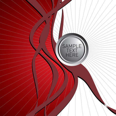 Stylish background with red wave and buttons Vector