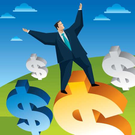 Business Success Wealth - Illustration Vector