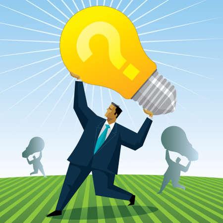 expressing negativity: Bulb Concept - Illustration