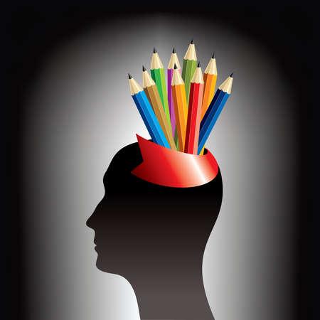 education idea - Illustration Vector