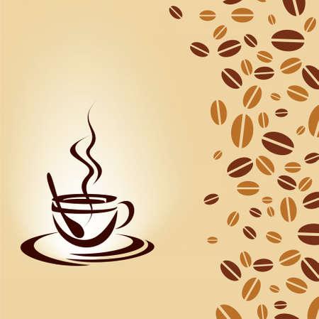 tasteful: hot coffee Illustration