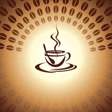 non alcoholic: hot coffee Illustration