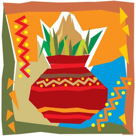 vivah: Festival Background With Kalash - Illustration Illustration