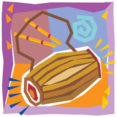 drum indian music - Illustration Illustration