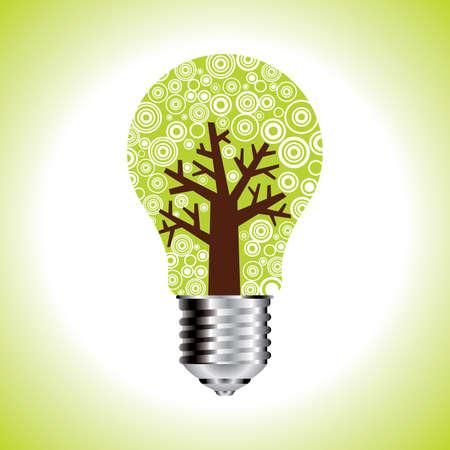 plantlet: eco idea gear green Green Bulb Illustration