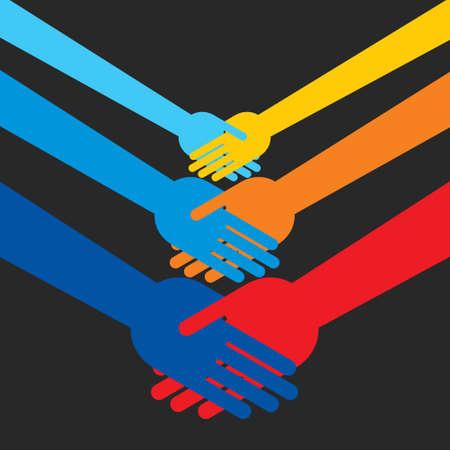 shaking hands - Illustration Illustration