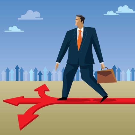 decision: decision of businessman Illustration