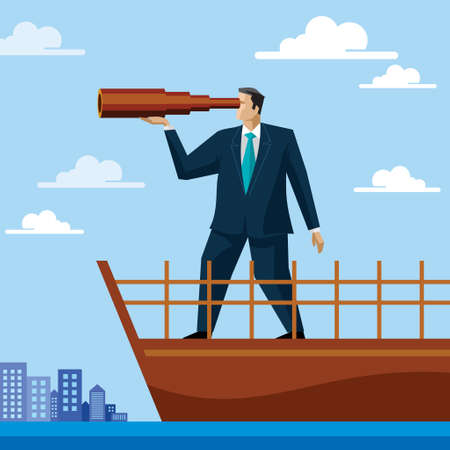 Vision. businessman concept - Illustration Illustration