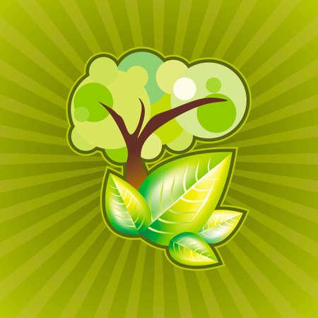 zen like: Abstract green tree