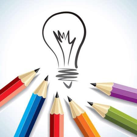 Creative light bulb Idea concept background - Illustration Vector