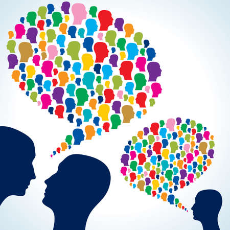 chating  with speech bubbles Vector
