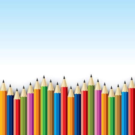 childern: Color pencil set - Illustration