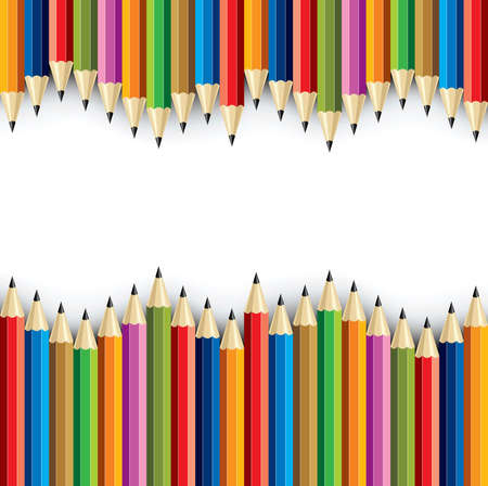 Color pencils wave - Illustration Vector