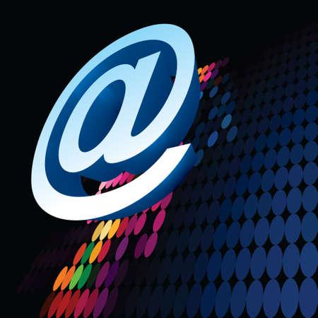 web address: E-mail sign - Illustration