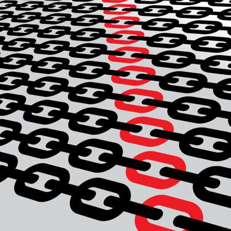 chain links: chain links Illustration Illustration
