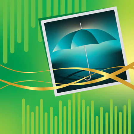 Vector umbrella  with beautiful background - abstract Vector