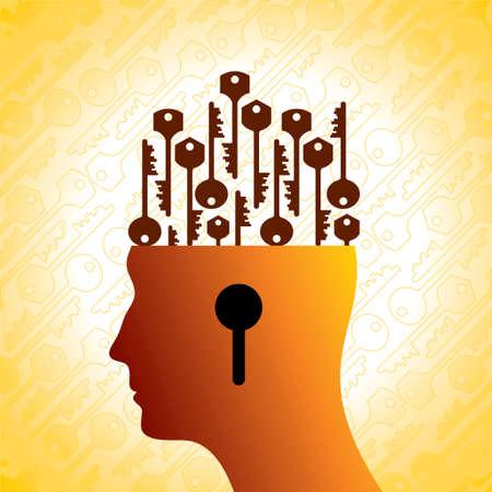 mental work: Key to the Mind - Illustration