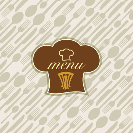 illustration of template for menu card
