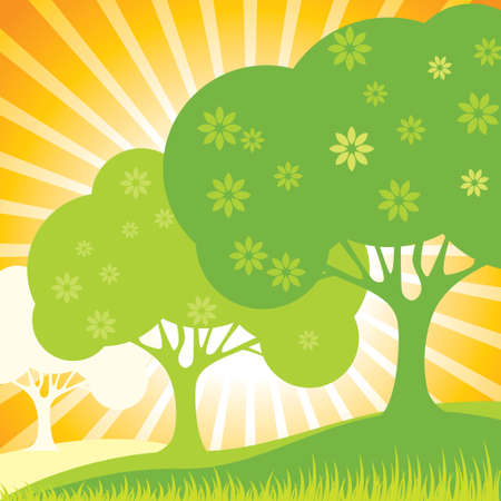 tree in nature - Illustration Vector