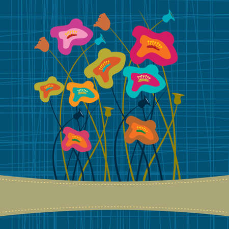 flowering: illustration beautiful card spring flowering tree Illustration