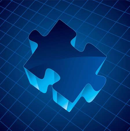 jigsaw piece: Jigsaw Piece - Illustration