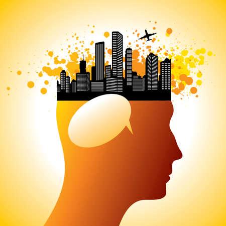 City on the head