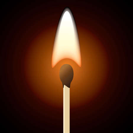 glow stick: Burning Matchstick Flame - Illustration Illustration