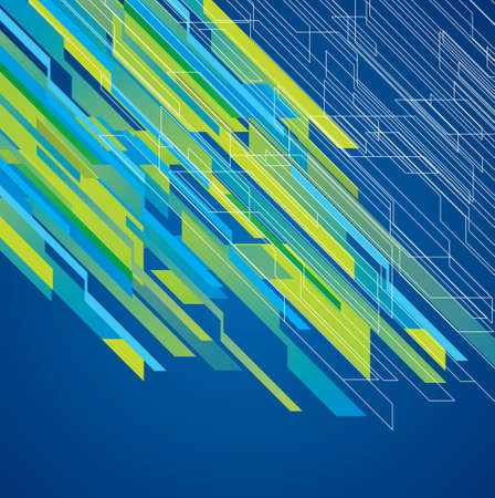Colorful lines background - Illustration Vector