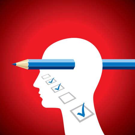 brain illustration: Brain and tick - Illustration