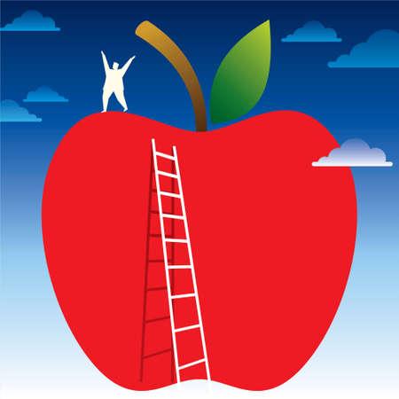 fruity idea - illustration Vector