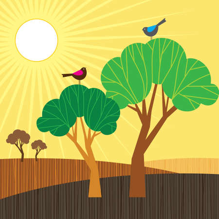 Sunrise - Illustration Vector