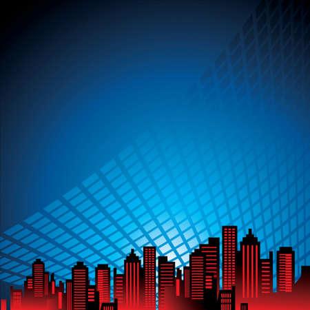city at night - Illustration
