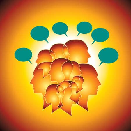 voices: Communication concept - Illustration
