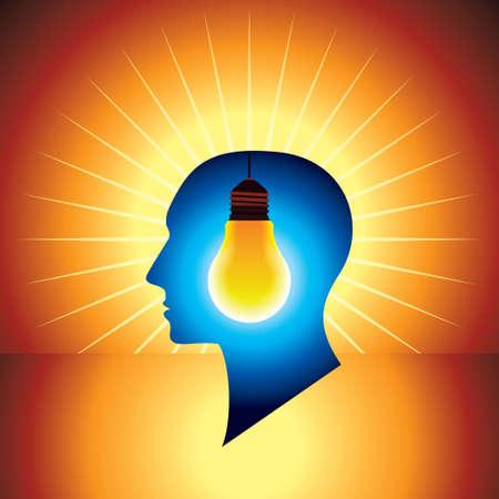 ideas brillantes: Ideas brillantes - ilustraci�n