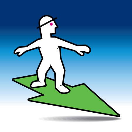 file clerk: Great business results concept - Illustration
