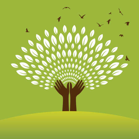 front or back yard: Saving nature - Illustration - Illustration