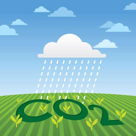 Rain - Illustration Vector