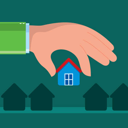 Holding a house - Illustration Vector